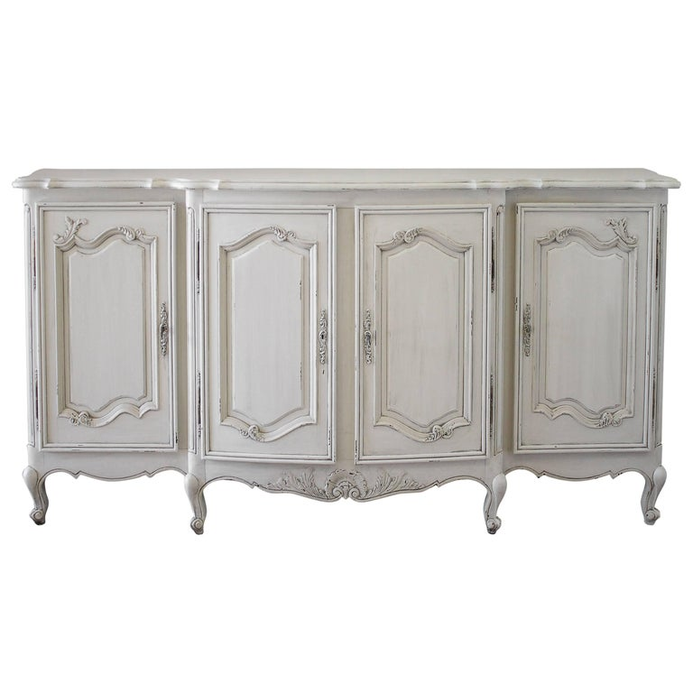Antique Painted Louis Xv Style French Provincial Server For