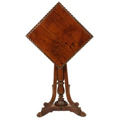 British Colonial Padouk Wood Side Table, circa 1820