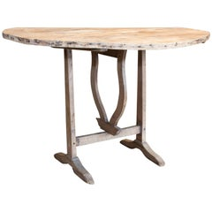 Antique French Folding Vineyard Table, circa 1910