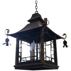 Chinese Style Hanging Lantern by John Rosselli, 20th Century