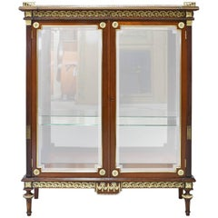 NYC Golden Age Louis XVI Style Display Cabinet, Attributable to Leon Marcotte