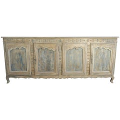 19th Century French Louis XV Style Painted Buffet