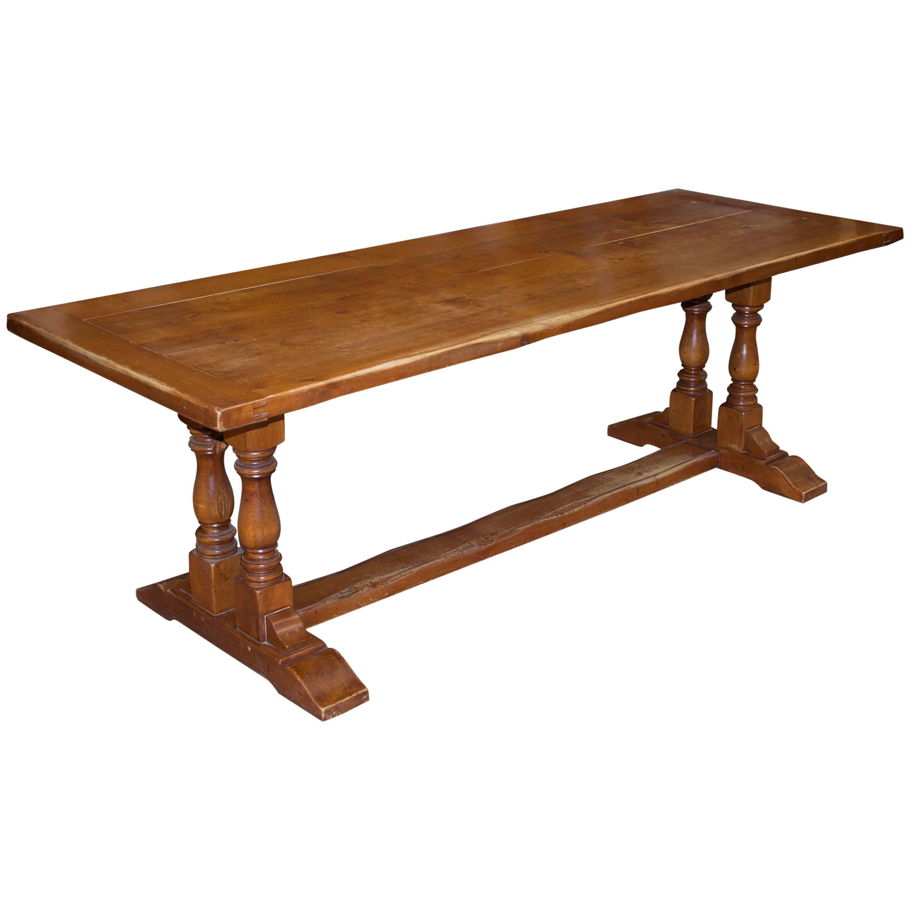 Vintage English Cherrywood Table For Sale