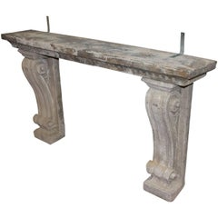 Antique English Stone Console Table