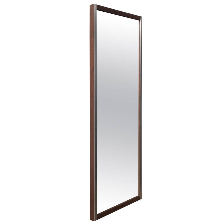 Walnut and Aluminum Mirror by Paul McCobb for Bryce Originals Mid-Century Modern