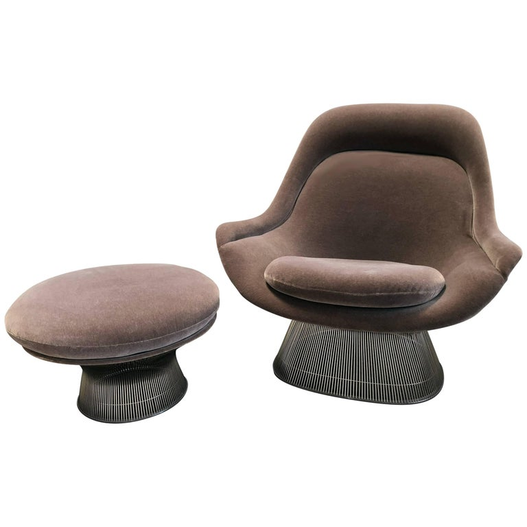 Warren Platner Easy Chair and Ottoman from Knoll International For Sale