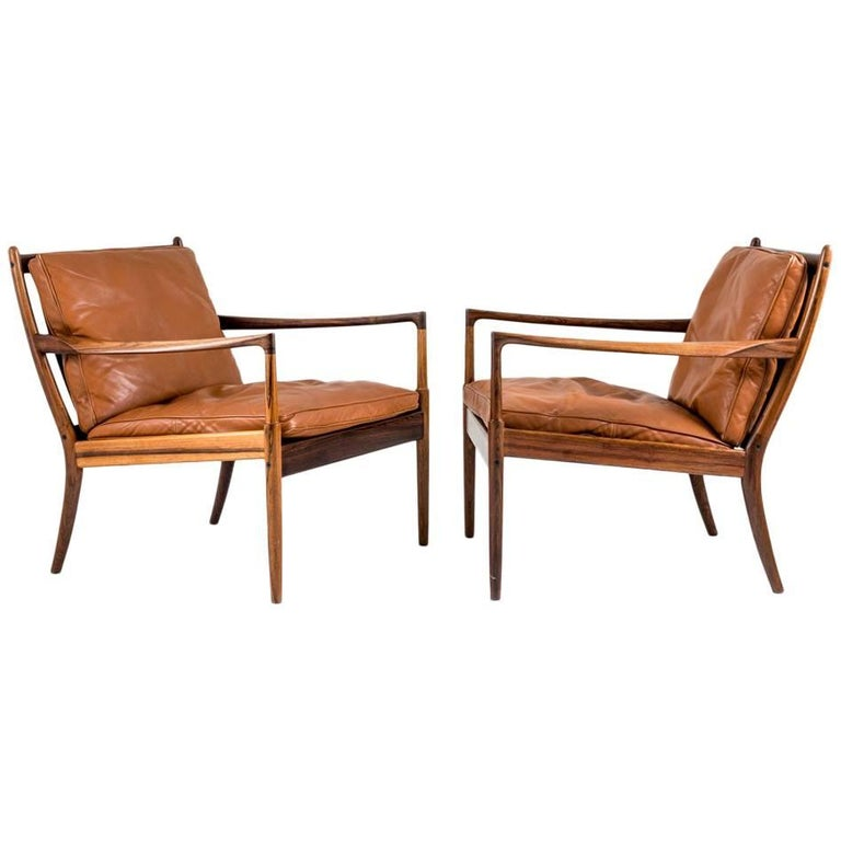 "Midcentury Lounge Chairs ""Samsö"" by Ib Kofod Larsen"