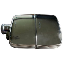 Solid Silver Hall Marked Hip Flask and Cup by Daniel & Arter