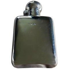 Slim Silver Hall Marked Hip Flask, William Neale Date 1911