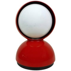 Red Table Lamp Eclisse by Vico Magistretti for Artemide, Italy, 1960s