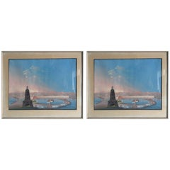 Pair of Views from Naples 19th Century