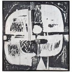 Mid-Century Modern Art Work Panel by Nerone Patuzzi, circa 1970, Italy