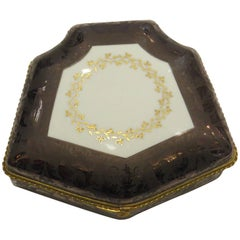 19th Century Limoges, Hand-Painted, Porcelain Box