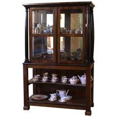 Early Biedermeier Showcase / Vitrine / Display Cabinet with Mirror
