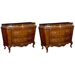 Pair of Louis XV Tall Bombe Chests - FREE LOCAL DELIVERY