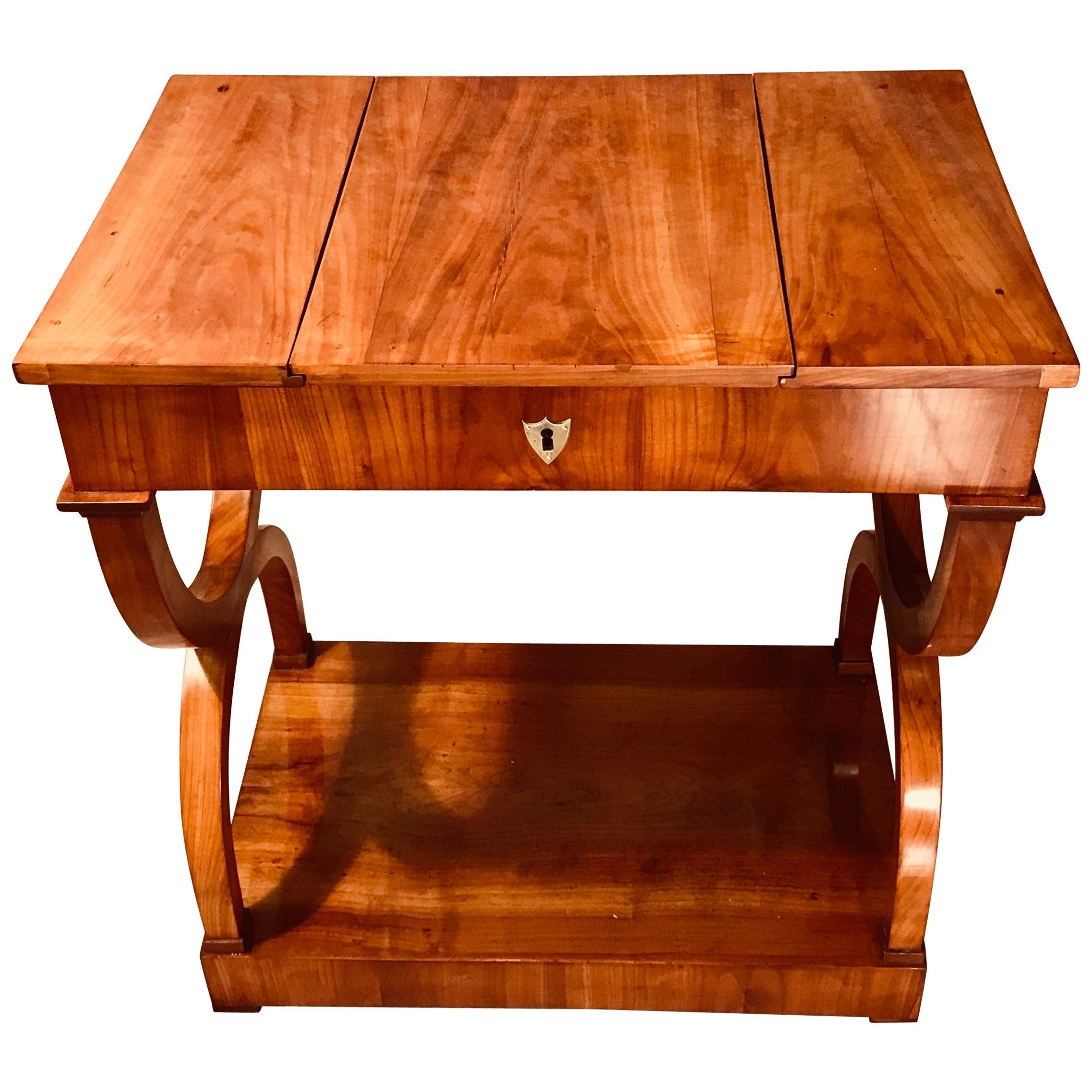 Biedermeier Sewing-or Working Table, Munich, 1810-1820, cherry wood
