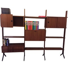 Mid-Century Modern Design Bookcase Library, Italy