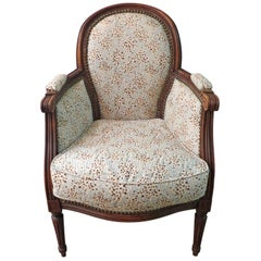 20th Century French Oak Child's Bergere