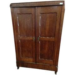 19th Century Italian Restored Brown Oak Wardrobe