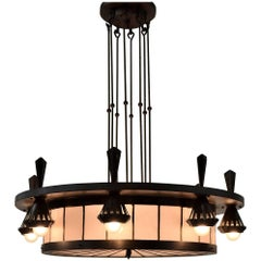 Art Deco Winkelman and Van Der Bijl Chandelier