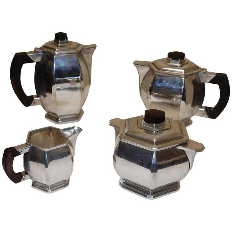Art Deco Silver Plate Coffee and Tea Set