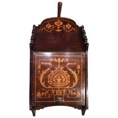 Mahogany Inlaid Arts & Crafts Period Coal Perdonium
