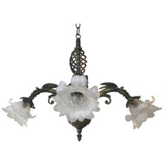 Victorian Cast Antiques Brass Chandelier