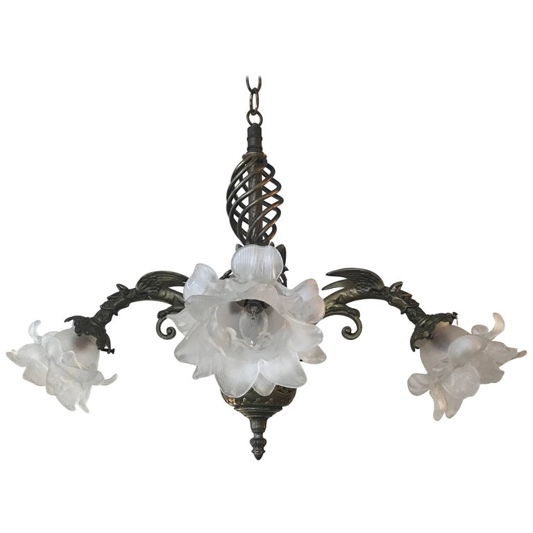 Victorian Cast Antiques Brass Chandelier For Sale - Victorian Cast Antiques Brass Chandelier For Sale At 1stdibs