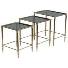 1950s Italian Brass Nesting Tables