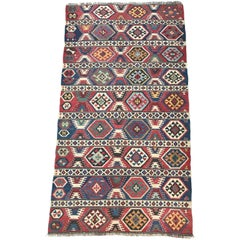 Antique Caucasian 19th Century Kilim