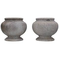 1960s Japanese Modern Granite Planters