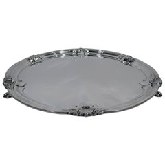 English Modern Georgian Sterling Silver Salver Tray