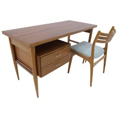 Midcentury Scandinavian Writing Desk, Table