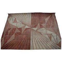 Extraordinary Geometric Carpet or Rug, Czechoslovakia
