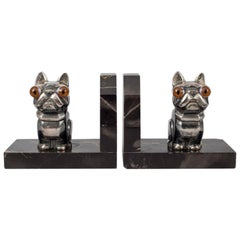 "Pair of French Art Deco Bookends by H. Moreau ""Hippolyte François Moreau"""