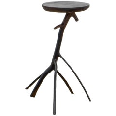 Contemporary Wooden Side Table by Marcelo Magalhães, Brazilian Design