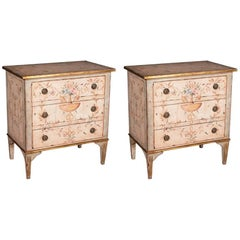 Pair of Hand-Painted Italian Nightstands - FREE LOCAL DELIVERY