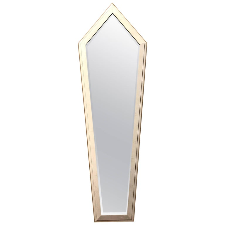 Monumental French Art Deco Silver Leaf Mirrors, circa 1940s