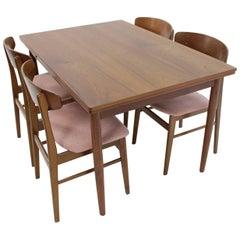 1960 Danish Teak Extendable Table