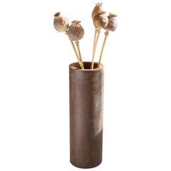Contemporary Minimalist Patinated Steel Vase by Scott Gordon