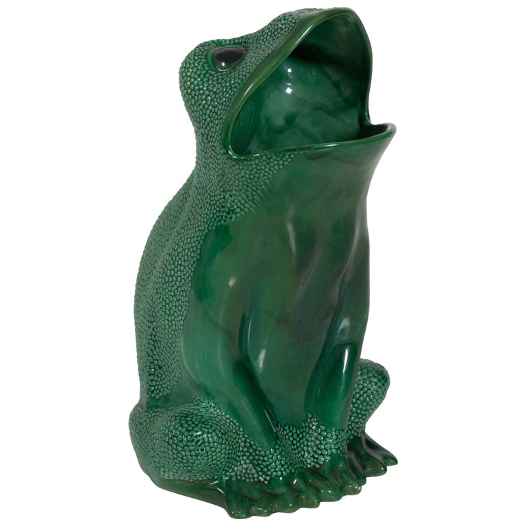 Italian Green Frog Umbrella Stand by Gumps