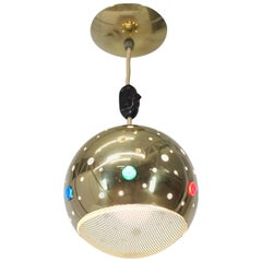 Solid Brass Pieced Ball Light Fixture Pendant