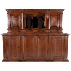 17th Century Renaissance Style Italian Cabinet circa 1950 - FREE LOCAL DELIVERY