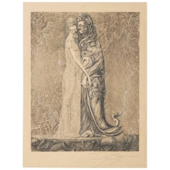 Ernst Fuchs Etching from the Cycle Samson