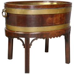 George III Mahogany and Brass Mounted Wine Cooler