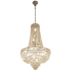 Art Deco Style Crystal Chandelier Empire Sac a Pearl Palace Lamp Chateau Lustre