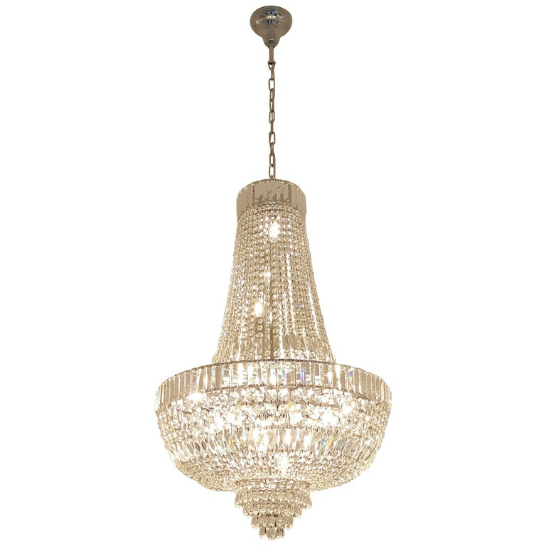 Art Deco Crystal Chandelier Empire Sac A Pearl Palace Lamp Cau Re For
