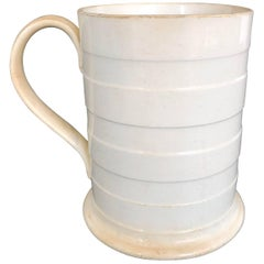 19th Century English Ribbed Mug