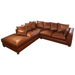 Nathan Anthony Custom Folio Leather Sectional