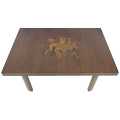 Walnut Inlay Coffee Table by Andrew Szoeke